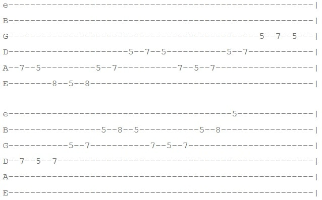 تمرین 2 افزایش سرعت گیتار