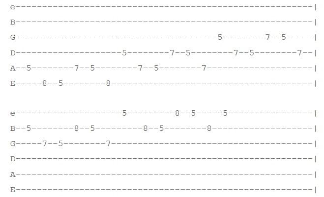 تمرین 5 افزایش سرعت گیتار