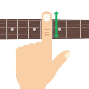 بالا یا پایین بردن انگشت آکورد باره دار