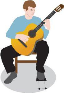 وضعیت نشستن گیتار کلاسیک